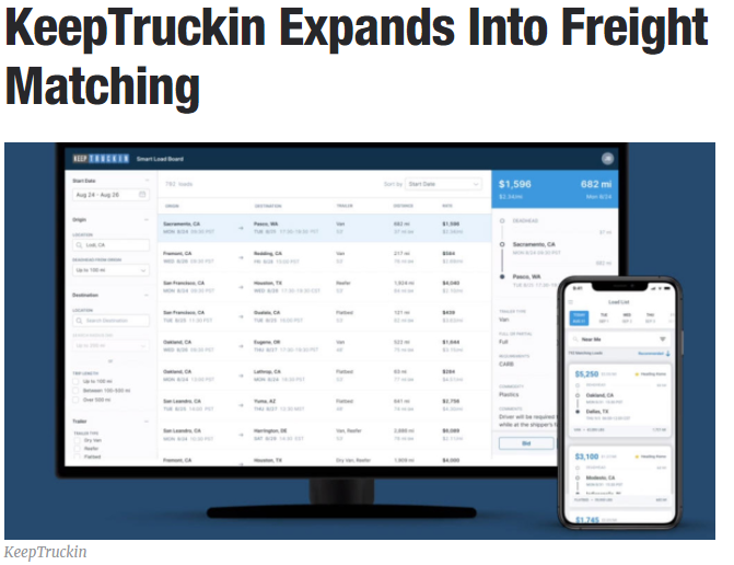 KeepTruckin's App Marketplace2.0 gives carriers more control over data